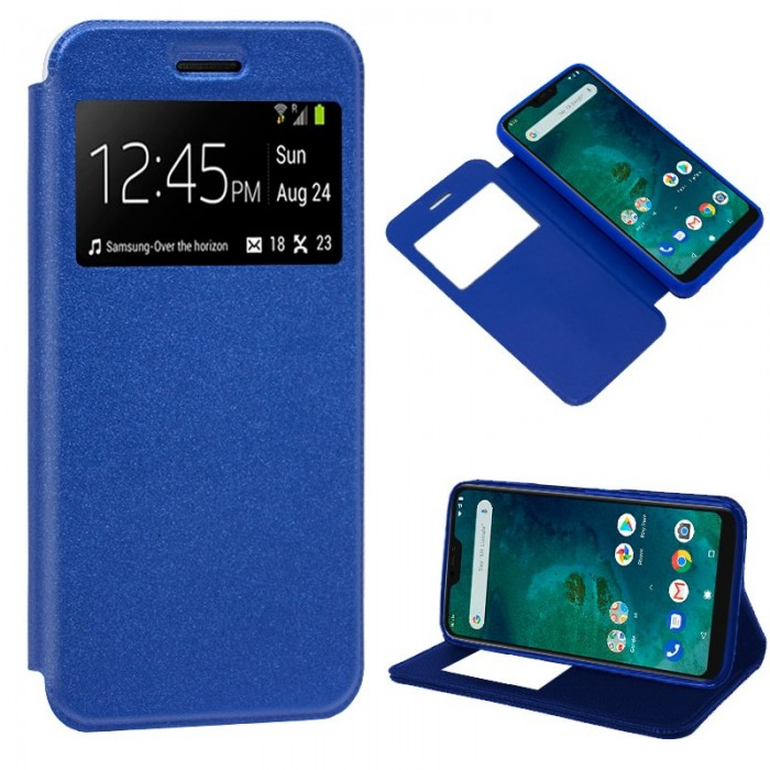 Funda Flip Cover Xiaomi Mi A2 Lite / 6 Pro Liso Azul
