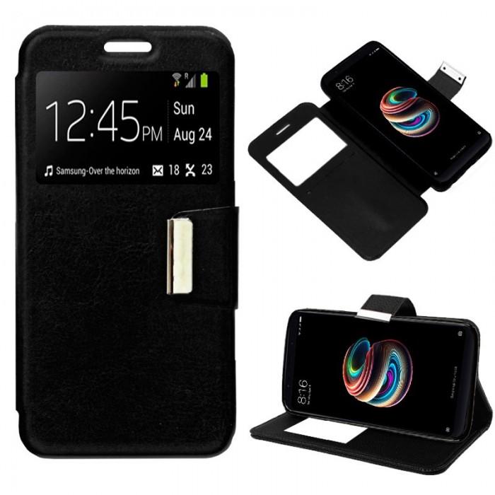 Funda Flip Cover Xiaomi Redmi 5 Plus Liso Negro