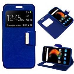 Funda Flip Cover ZTE Blade A610 Plus Liso Azul