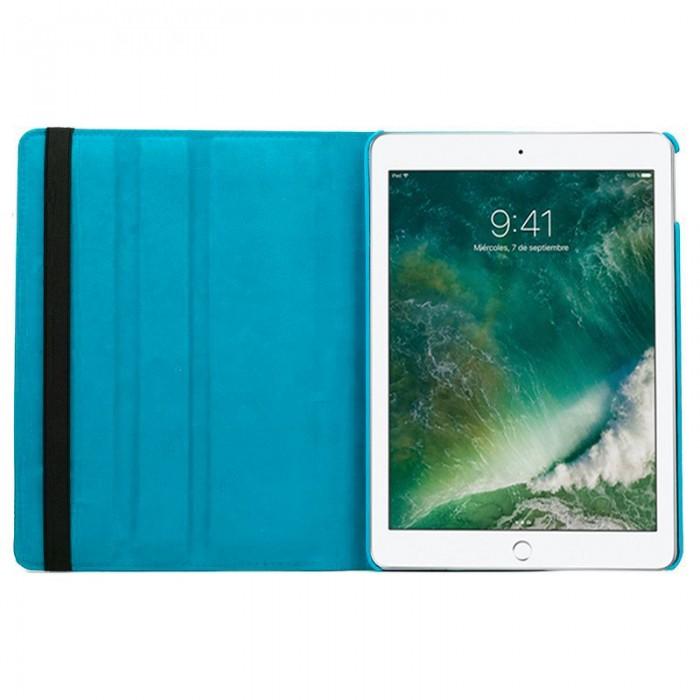 Funda iPad Air / Air 2 / Pro 9.7 / iPad 2017 / iPad 2018 9.7 pulg Giratoria Polipiel Celeste