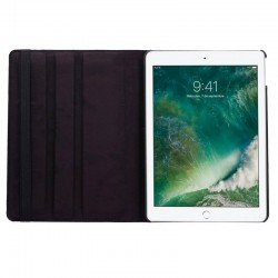 Funda iPad Air / Air 2 / Pro 9.7 / iPad 2017 / iPad 2018 9.7 pulg Giratoria Polipiel Negro