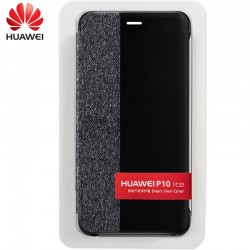 Funda Original Huawei P10 Lite Flip Cover Negro (Con Blister)