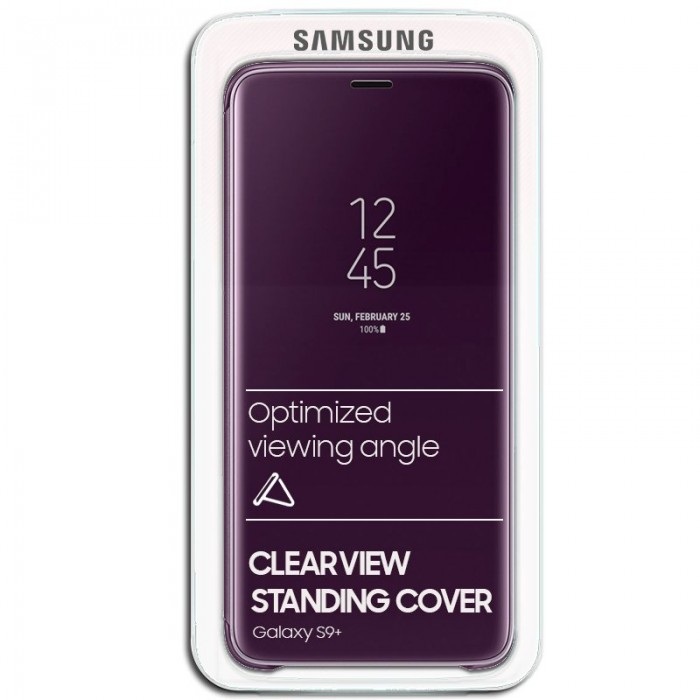 Funda Original Samsung G965 Galaxy S9 Plus Clear View Violeta (Con Blister)