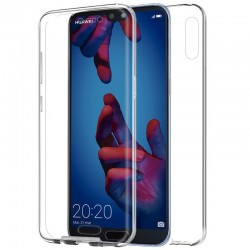 Funda Silicona 3D Huawei P20 (Transparente Frontal + Trasera)