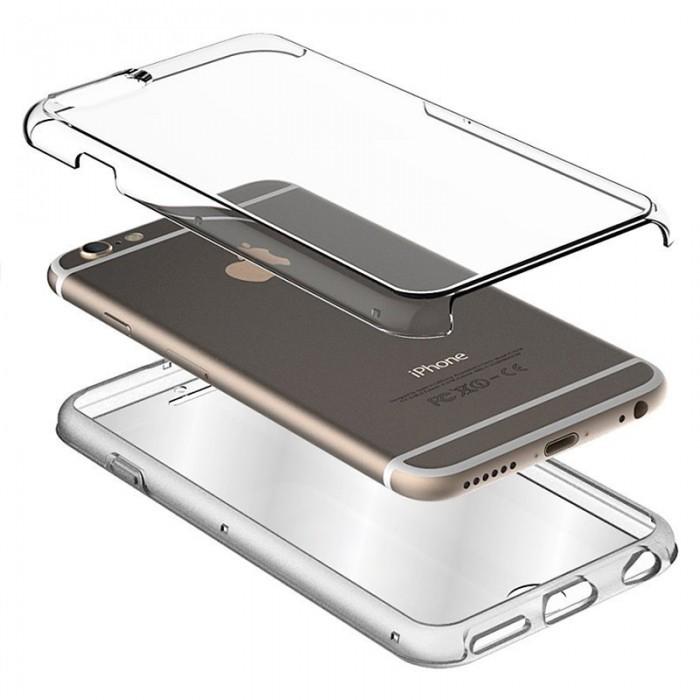 Funda Silicona 3D Samsung A600 Galaxy A6 (Transparente Frontal + Trasera)