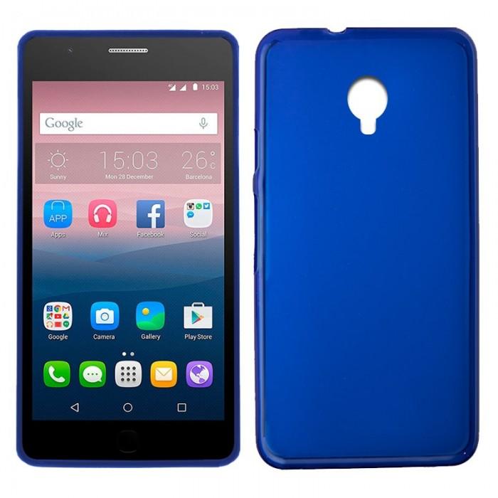 Funda Silicona Alcatel Pop Up (Azul)