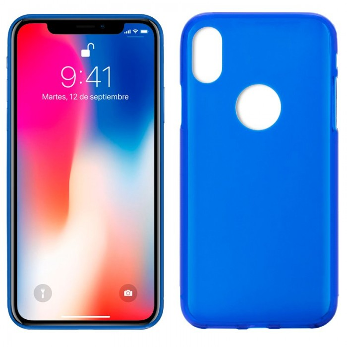 Funda Silicona iPhone X / iPhone XS (Azul)