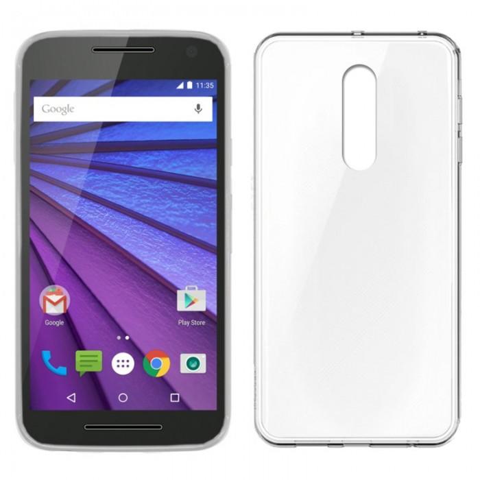 Funda Silicona Motorola Moto G 3ª Generación (Transparente)