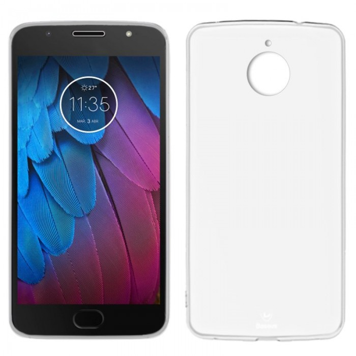 Funda Silicona Motorola Moto G5S (Transparente)