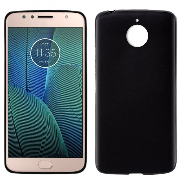 Funda Silicona Motorola Moto G5S Plus (Negro)