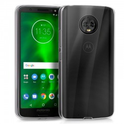 Funda Silicona Motorola Moto G6 (Transparente)