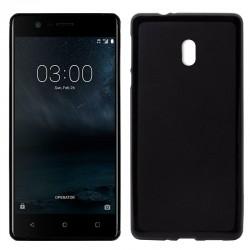 Funda Silicona Nokia 3 (Negro)