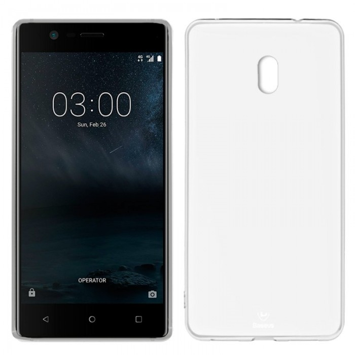 Funda Silicona Nokia 3 (Transparente)