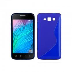 Funda Silicona Samsung J100H Galaxy J1 (Azul)