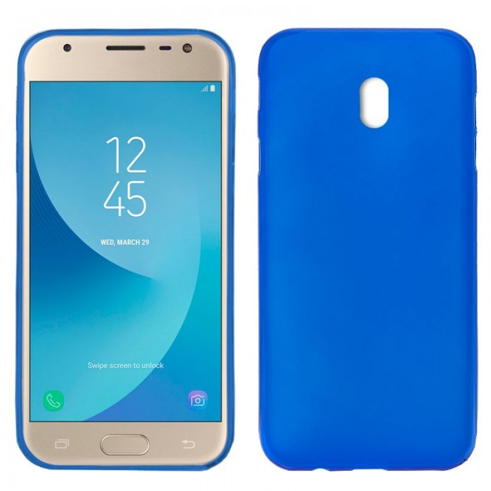 Funda Silicona Samsung J330 Galaxy J3 (2017) Azul