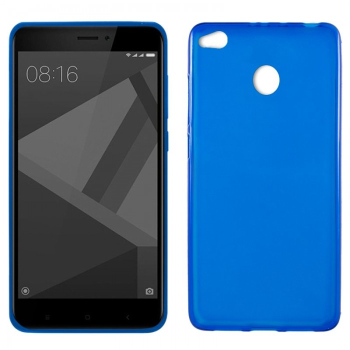 Funda Silicona Xiaomi Redmi 4X / 4X Pro (Azul)