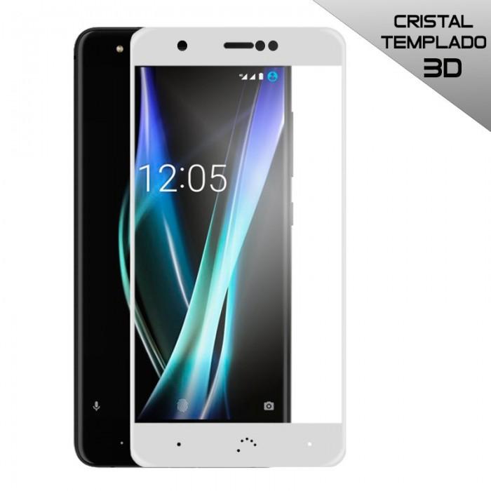 Protector Pantalla Cristal Templado BQ Aquaris X / X Pro (3D Blanco)
