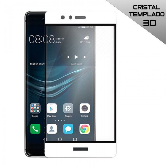 Protector Pantalla Cristal Templado Huawei P9 Plus (3D Blanco)