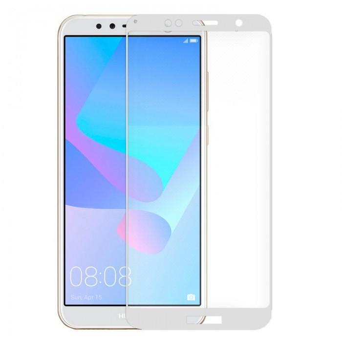 Protector Pantalla Cristal Templado Huawei Y6 (2018) / Honor 7A (3D Blanco)
