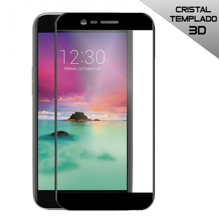 Protector Pantalla Cristal Templado LG K10 (2017) / K11 (3D Negro)