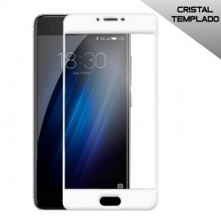 Protector Pantalla Cristal Templado Meizu M3 / M3s (3D Blanco)
