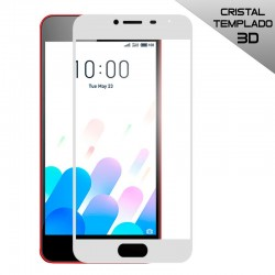 Protector Pantalla Cristal Templado Meizu M5c (3D) Blanco