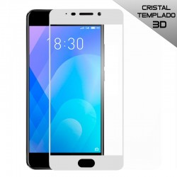 Protector Pantalla Cristal Templado Meizu M6 Note (3D) Blanco