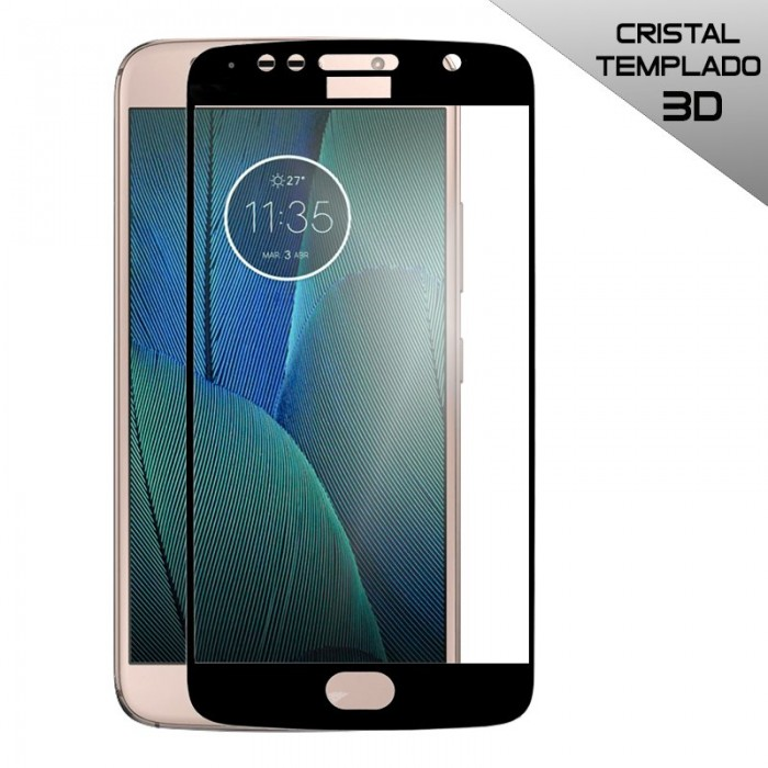 Protector Pantalla Cristal Templado Motorola Moto G5S Plus (3D Negro)