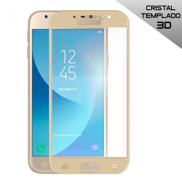 Protector Pantalla Cristal Templado Samsung J330 Galaxy J3 (2017) FULL 3D Dorado