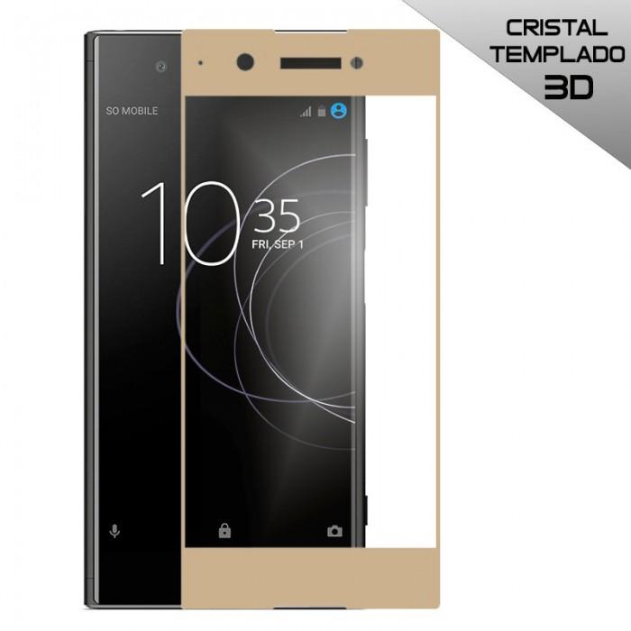 Protector Pantalla Cristal Templado Sony Xperia XA1 Plus (3D Dorado)