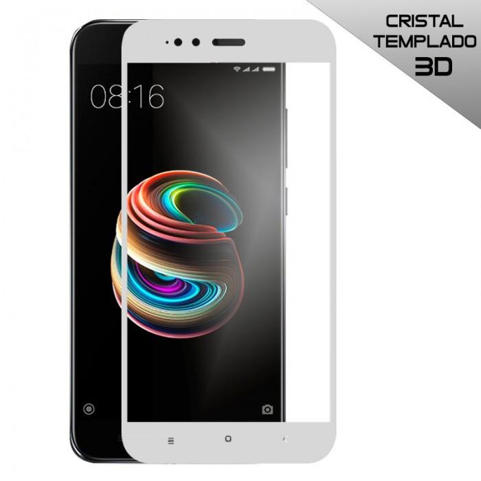 Protector Pantalla Cristal Templado Xiaomi Mi A1 / Mi 5X (3D Blanco)