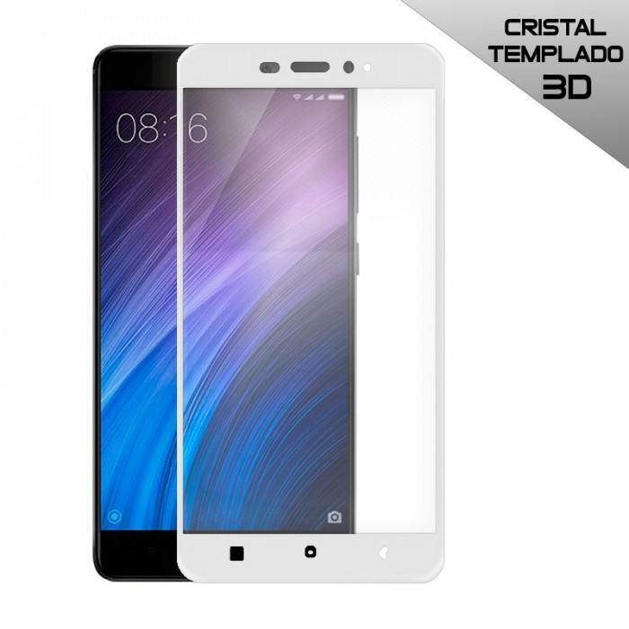 Protector Pantalla Cristal Templado Xiaomi Redmi 4 Pro (3D Blanco)