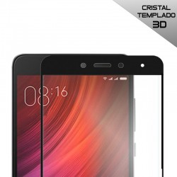 Protector Pantalla Cristal Templado Xiaomi Redmi Note 4 / Note 4X (3D Negro) Versión 1