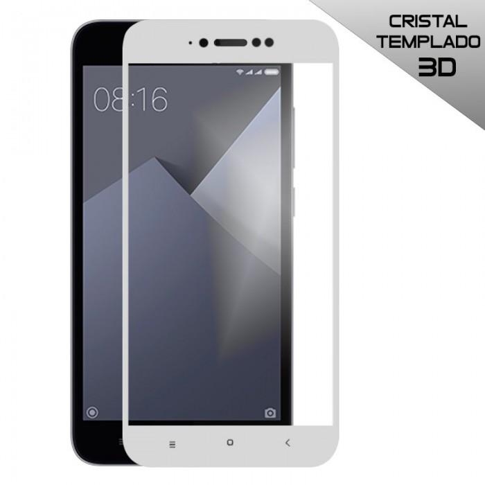 Protector Pantalla Cristal Templado Xiaomi Redmi Note 5A / Note 5A Prime (3D Blanco)
