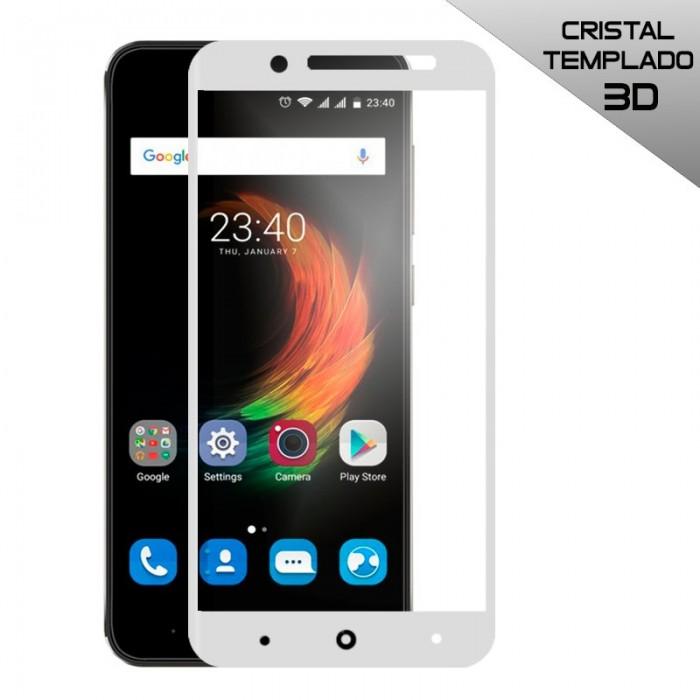Protector Pantalla Cristal Templado ZTE Blade A610 Plus (3D Blanco)