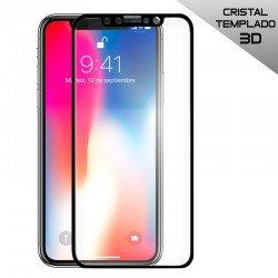 Protector Pantalla Cristal Templado iPhone X / iPhone XS (FULL 3D Negro)