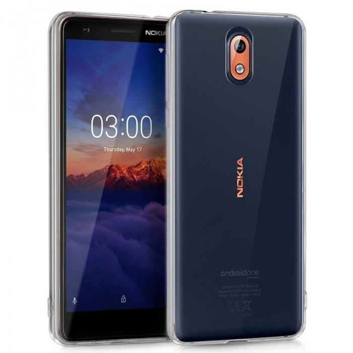 Funda Silicona Nokia 3.1 (Transparente)