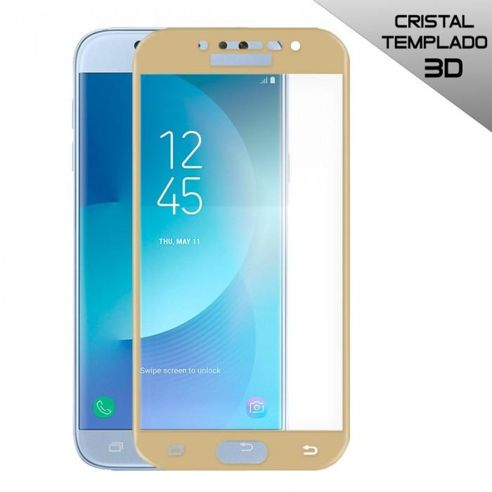 Protector Pantalla Cristal Templado Samsung J530 Galaxy J5 (2017) FULL 3D Dorado
