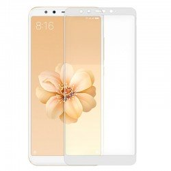 Protector Pantalla Cristal Templado Xiaomi Mi A2 / Mi 6X (FULL 3D Blanco)