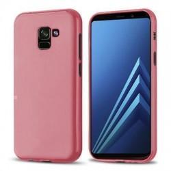 Funda silicona gel Samsung Galaxy A8 rosa