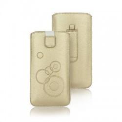 Funda saco tira circle Sony Xperia Z2, Z3, Samsung Galaxy S7 Edge, Huawei P9 y tamaños similares dorado