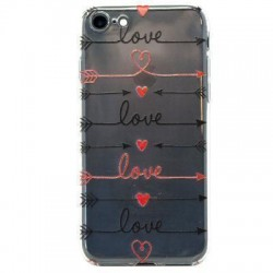 Funda silicona gel iPhone 7 Plus / iPhone 8 Plus Flechas Love