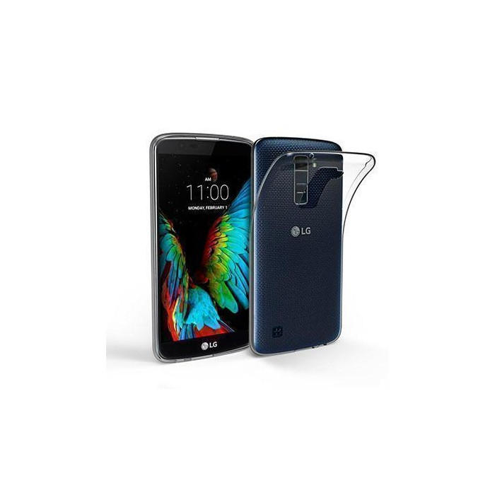 Funda silicona gel LG K10 ultra slim 0,3mm transparente