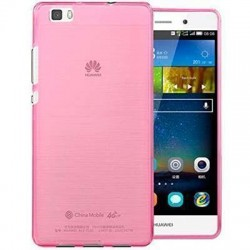 Funda silicona gel Huawei Ascend P8 Lite color rosa