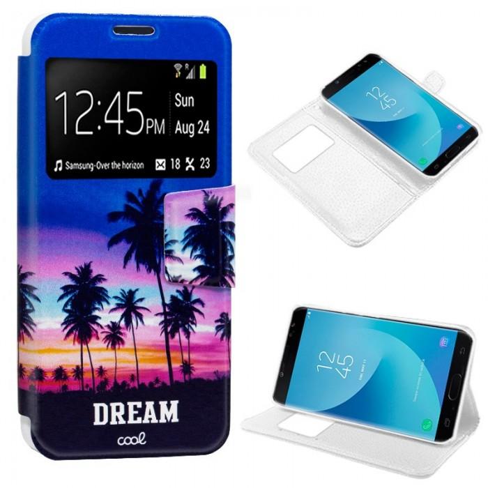 Funda Flip Cover Samsung J730 Galaxy J7 (2017) Dibujos Dream