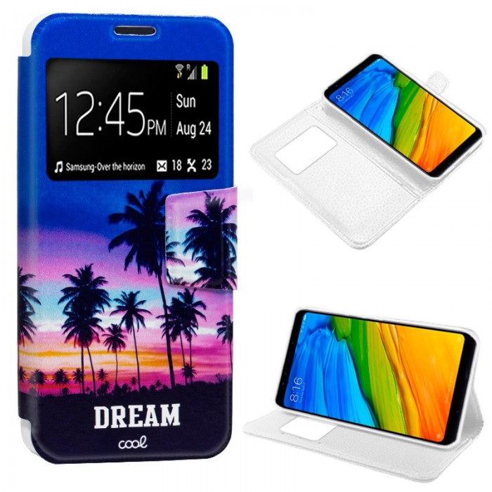 Funda Flip Cover Xiaomi Redmi 5 Dibujos Dream