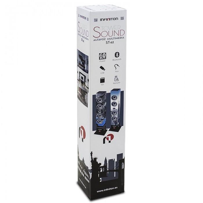 Altavoz Torre Música Bluetooth (60W) Infiniton ST62 Roma