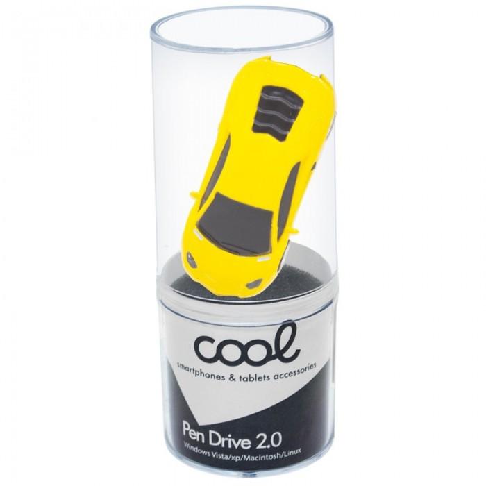 Pen Drive USB x32 GB Silver Coche Metálico Amarillo