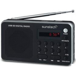 SUNSTECH RPDS32SL Plata LCD - Radio Portátil