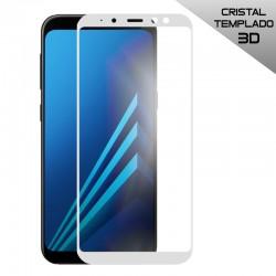 Protector Pantalla Cristal Templado Samsung A530 Galaxy A8 (2018) (FULL 3D Blanco)